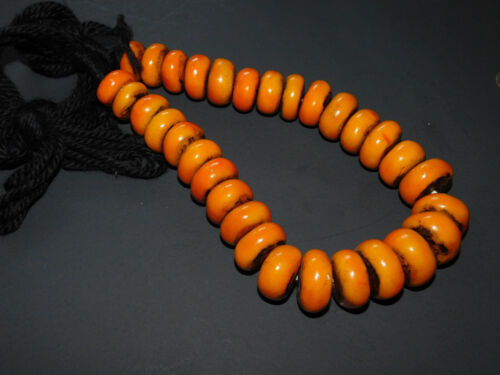 BERBER 31 RESIN BEADS AFRICAN ETHNIC JEWELRY NECKLACE FROM MOROCCO