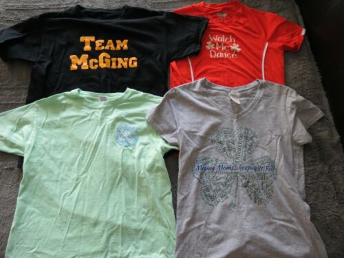 MCGING IRISH DANCERS 4 T-SHIRTS-3 YOUTH & 1 MCGING MOM TOP