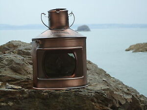 Ships Starboard Copper Lantern -Lamp - Port star board Masthead Red Green Clear