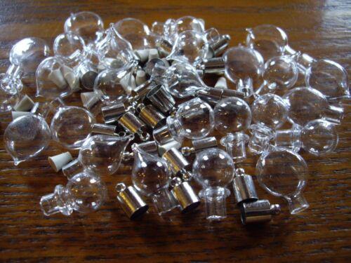 lot de10 20 30 40 50 fioles pendentif mini bouteille flacon goutte bulle bouchon ebay. Black Bedroom Furniture Sets. Home Design Ideas