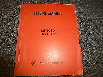 Massey Ferguson 1080 Tractor Loader Shop Service Repair Manual Book