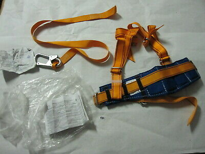 New Russian Medium Fall Protection Safety Construction Harness Model Lanyard