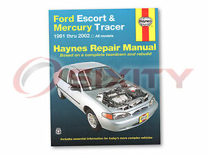 Ford Escort Haynes Repair Manual LX Sport GT ZX2 S/R Hot Coupe LX-E SE Base rw
