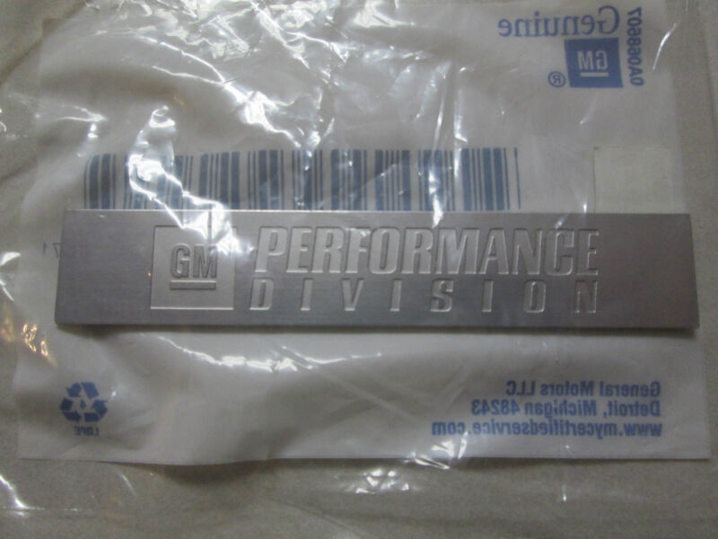 CHEVROLET CAMARO SS CTS GM PERFORMANCE DIVISION INTAKE MANIFOLD EMBLEM 25927029