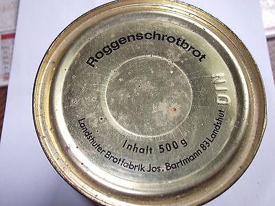 Roggenschrotbrot in der Dose-Landshuter Brotfabrik Jos.Bartmann-50-60er Jahre