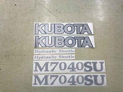 Kubota M7040su Tractor Decals