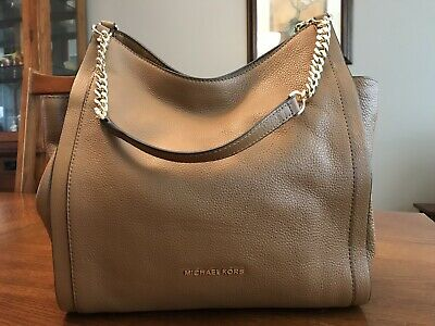 Michael Kors Newbury Medium Chain Shoulder Tote - Acorn
