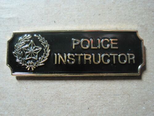 POLICE INSTRUCTOR LAPEL PIN METAL COMMENDATION AWARD BLACK or NAVY GOLD or SILVE