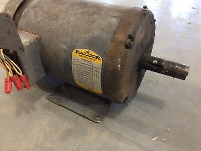 Baldor Electric Motor 5hp 208230460v 1725rpm 184t 3-phase M3615t