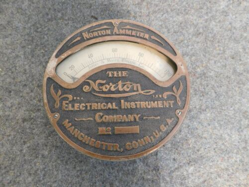 Antique Norton Jones & Moore Co Ammeter