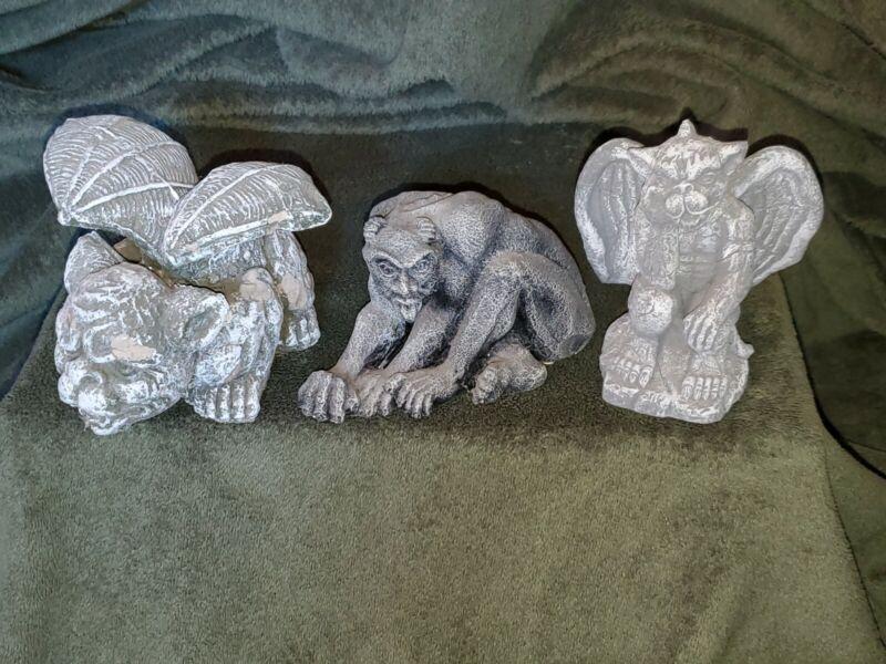 Stone Garden Crouching Man + Greenbrier Winged Gargoyles 4 Statue Orig Stickers