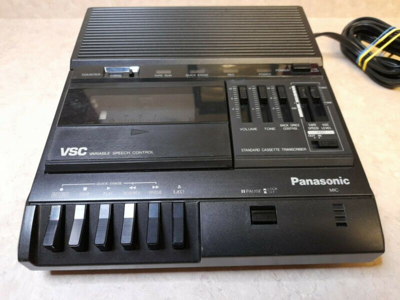 Panasonic Variable Speech Control RR-830 Standard Cassette Transcriber Tested