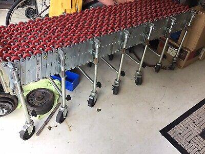 Portable Flexible Skatewheel Conveyor - Nestaflex 175 - 7 Post