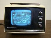 Vintage TrueTone Portable TV Black and White CRT Model MIC3305A-37 Solid Stat