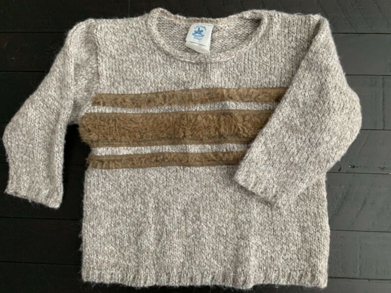 Charabia boys size 4 mohair sweater Boutique E5