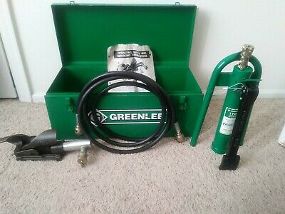 Greenlee 800 Hydraulic Cable Bender Wfoot Pump Hose Unit And Storage Box