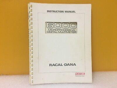 Racal-dana 6000 Microprocessing Digital Multimeter Instruction Manual