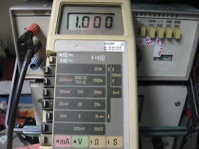 Fluke 8026b True Rms Multimeter Fully Tested One Hand Operation Test Leads Batt