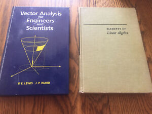 Vector analysis and linear algebra books