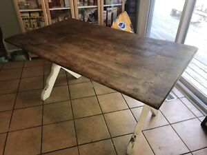 Solid Wood Dining Table with Live Edge & Bench Seat