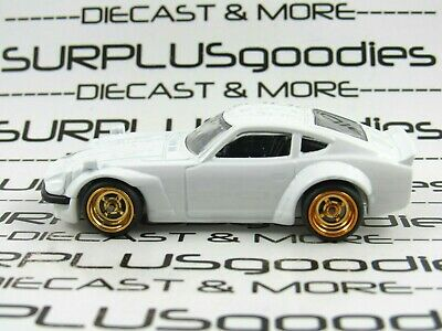 Hot Wheels 1:64 LOOSE White NISSAN FAIRLADY 240Z Custom SUPER w/Real Riders