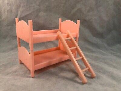 Vintage Best Miniture Dollhouse Plastic Pink Bunk Beds (Best Bunk Beds)