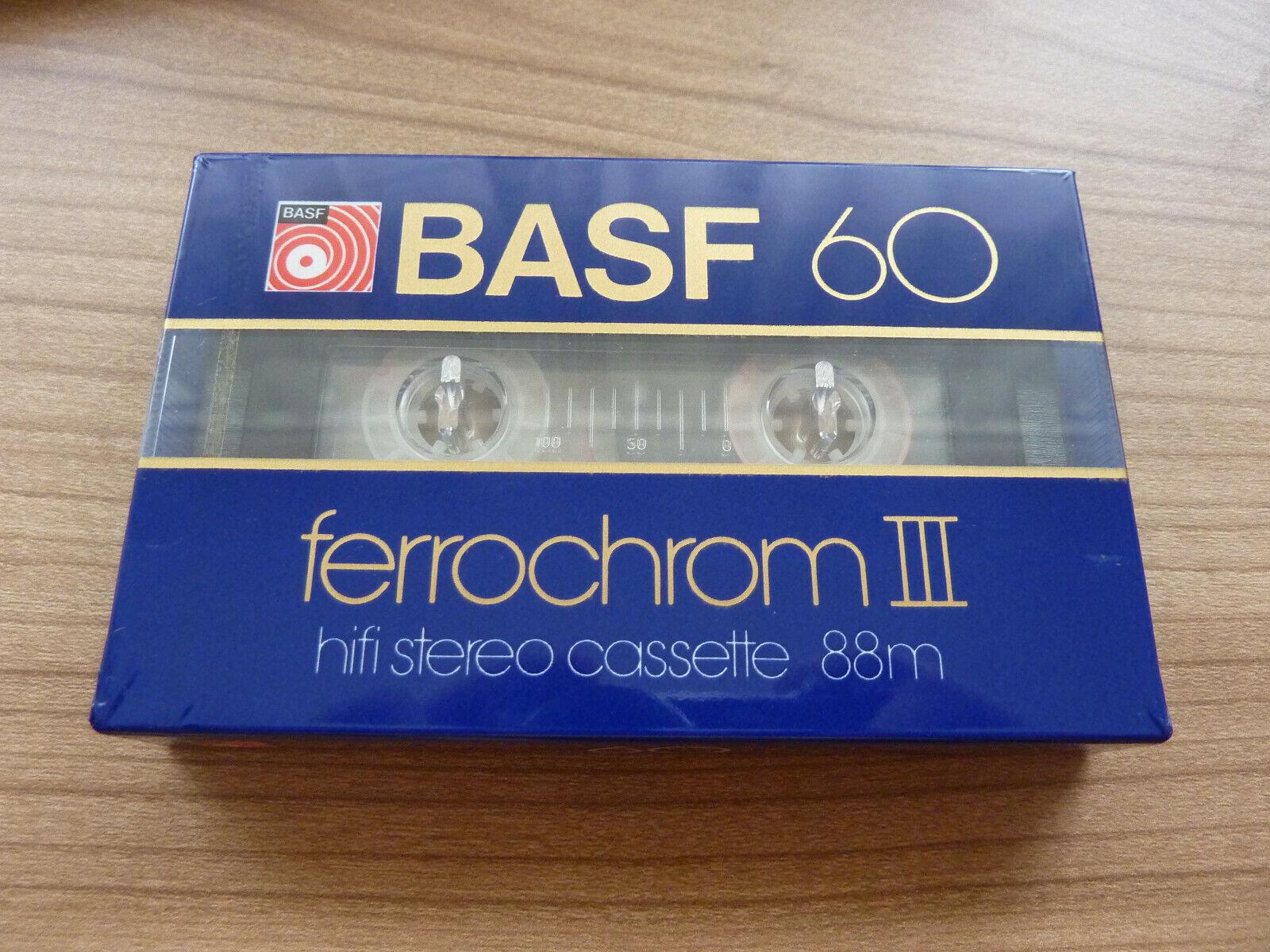 BASF ferrochrom III 60 audiokassette cassette audio tape sealed