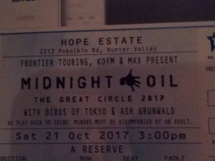 2 x Midnight Oil Hope Estate - seating area A9