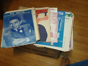 Box full of sheet music.... (40's, 50's and 60's)