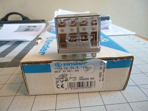 Finder 56.34.8.120 - Power Relay, 4PDT, 120V~AC, 12 A, 56 Series, Socket