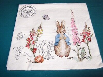 4 PAPER NAPKINS FOR DECOUPAGE AND PAPER CRAFTS BEATRIX POTTER PETER RABBIT S1