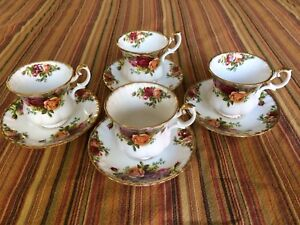 Royal Albert Old Country Roses Demi Tasse Cup & Saucer sets