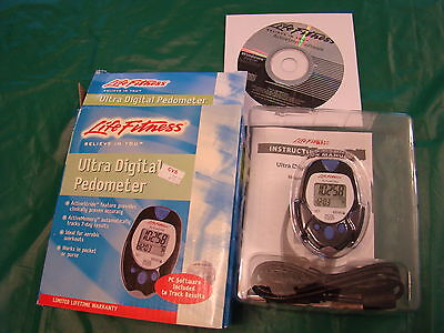 Life Fitness Ultra Digital Pedometer -Ideal for aerobic workouts - FREE SHIPPING