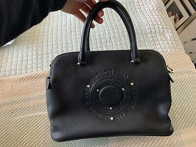 Versace - Black Handbag With Crossbody Strap With Zip Closure Compartments