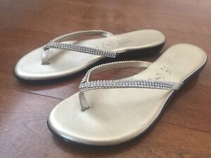 Gold sandals-size 8