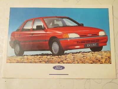 1990 FORD ESCORT GHIA LAUNCH POSTCARD REF NO: SP 2883 (LARGE SIZE - 21cm ACROSS)