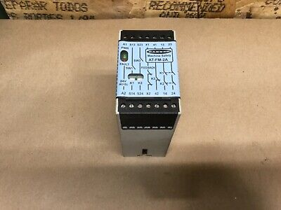 Banner At-fm-2a Machine Safety Relay Module 24 V Acdc Atfm2a 41d49