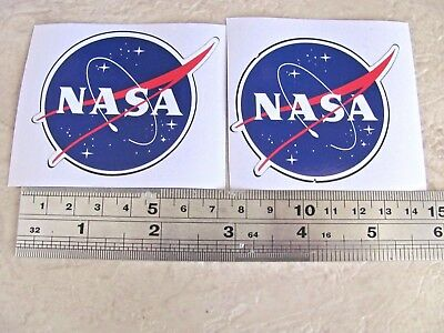 NASA NASA MEATBALL 2.2 INCHES DECAL STICKER SET OF TWO
