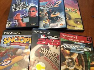 6 PS2 games for 10 dollars