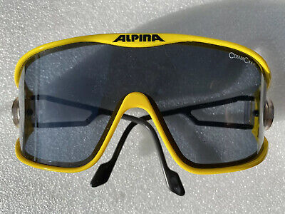 Alpina S3 Yellow/Gelb - Vintage Sonnenbrille - Vario Swing - W.Germany 80s-large