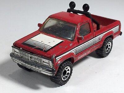 Used, Matchbox Dodge Dakota Red Truck Dakota St MB17 MB50 China 1-75 Series 1990 Car for sale  Shipping to Canada