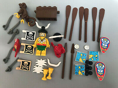 Lego vintage Pirates male Native Islander minifigure with accessories