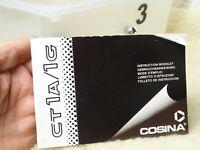 GENUINE ORIGINAL COSINA CT-1 CAMERA OPERATING INSTRUCTIONS MANUAL