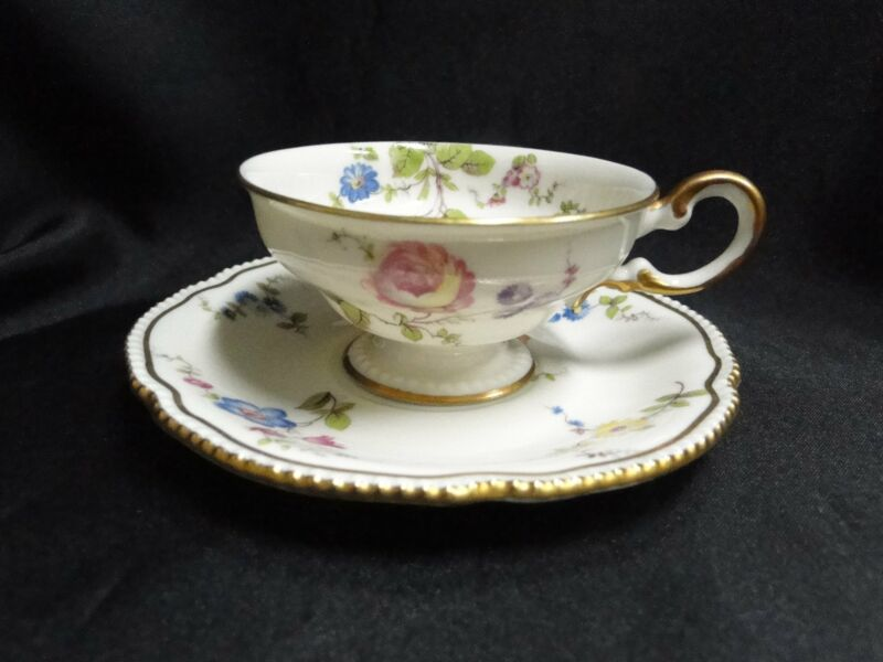 Castleton Sunnyvale, Multicolored Flowers: Demitasse Cup & Saucer Set, As Is