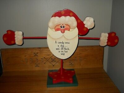 Handmade Wooden CANDY CANE A DAY Advent Calendar~ Santa Advent Calendar ~