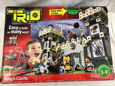 Fisher Price P6841 Trio Blocks King's Castle Building Set 195 pieces