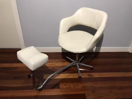 Nail tech, manicure pedicure massage beauty chair stool