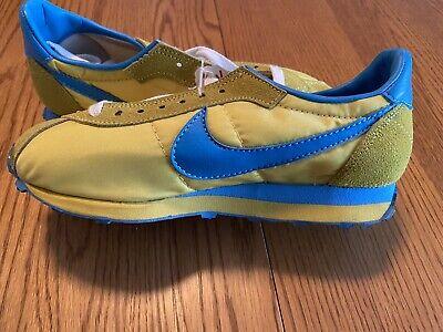 Nike Lady Waffle Trainer Women's Size 5.5 1970's Vintage Yellow/Blue B Grade Sho