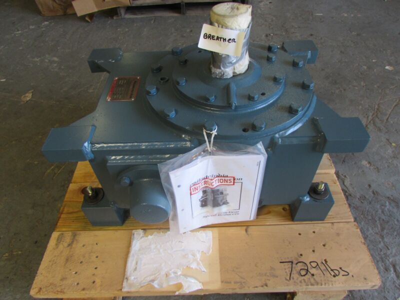 PHILADELPHIA WORM GEAR REDUCER # 775U , RATIO 5:1 , 25 H.P. NEW