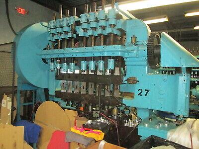 Waterbury Farrel 308 Bumper Cam Eyelet Press 8 Stations 30 Ton Great Cond
